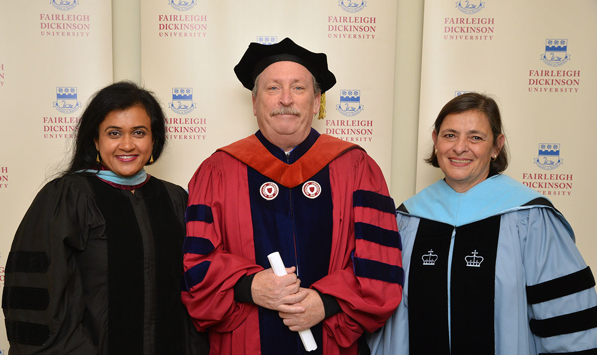 Dr. Joshi featured with Provost Joseph Kiernan (ret.)  and Dr. Aixa Ritz at Fairleigh Dickinson University