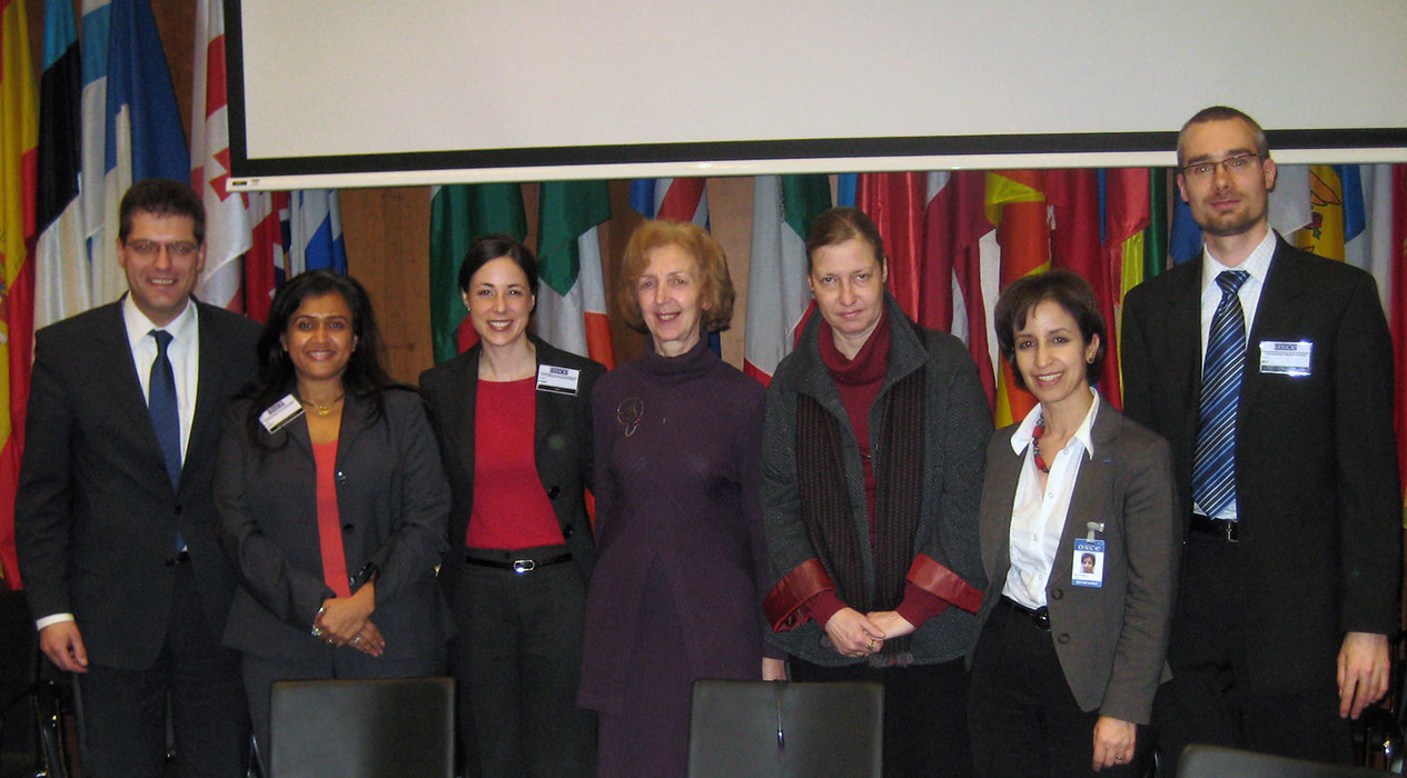 Dr. Joshi with other panel members at the Organization for Security and Cooperation in Europe meeting in Vienna, Austria