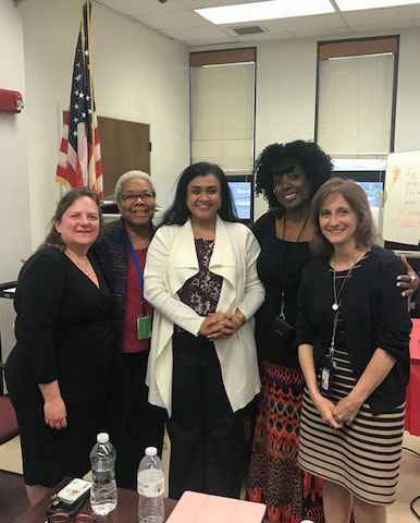Dr. Joshi after speaking with members of the Passaic Vicinage and the NJ Supreme Court Committee on Minority Concerns