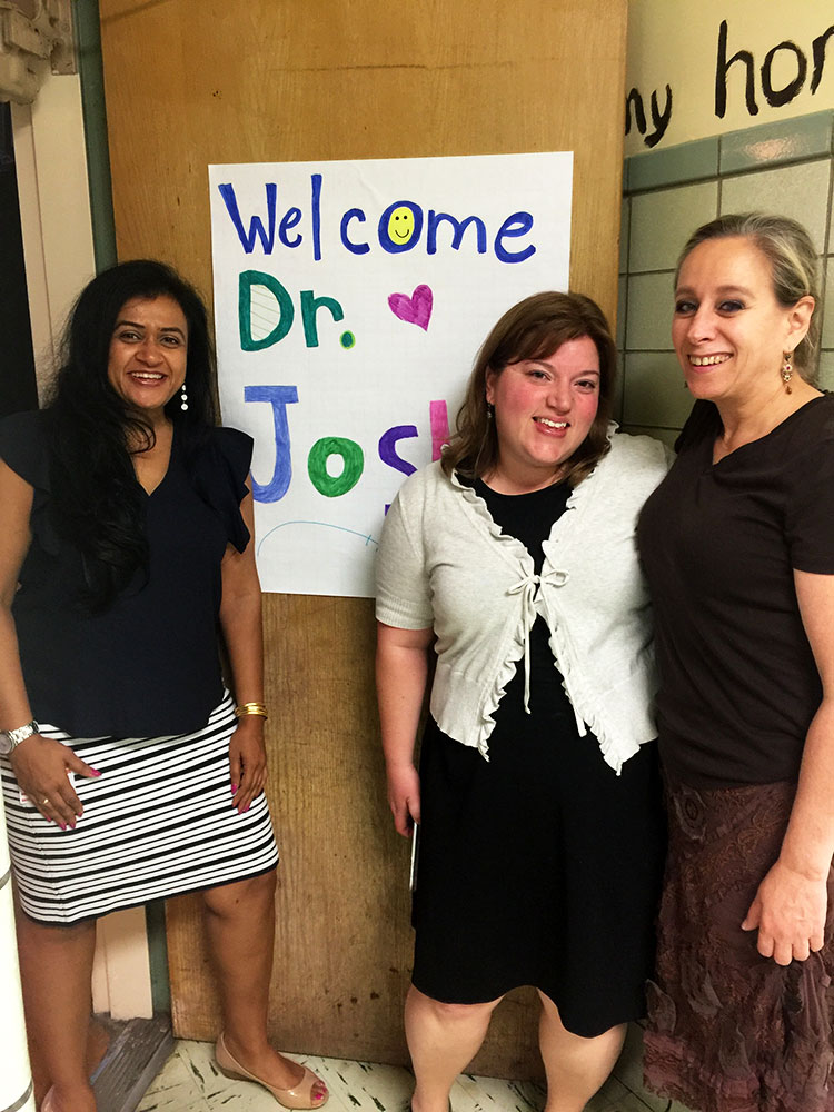 Dr. Joshi was invited by two educators to talk about social justice issues with middle school students in the South Orange/Maplewood School District