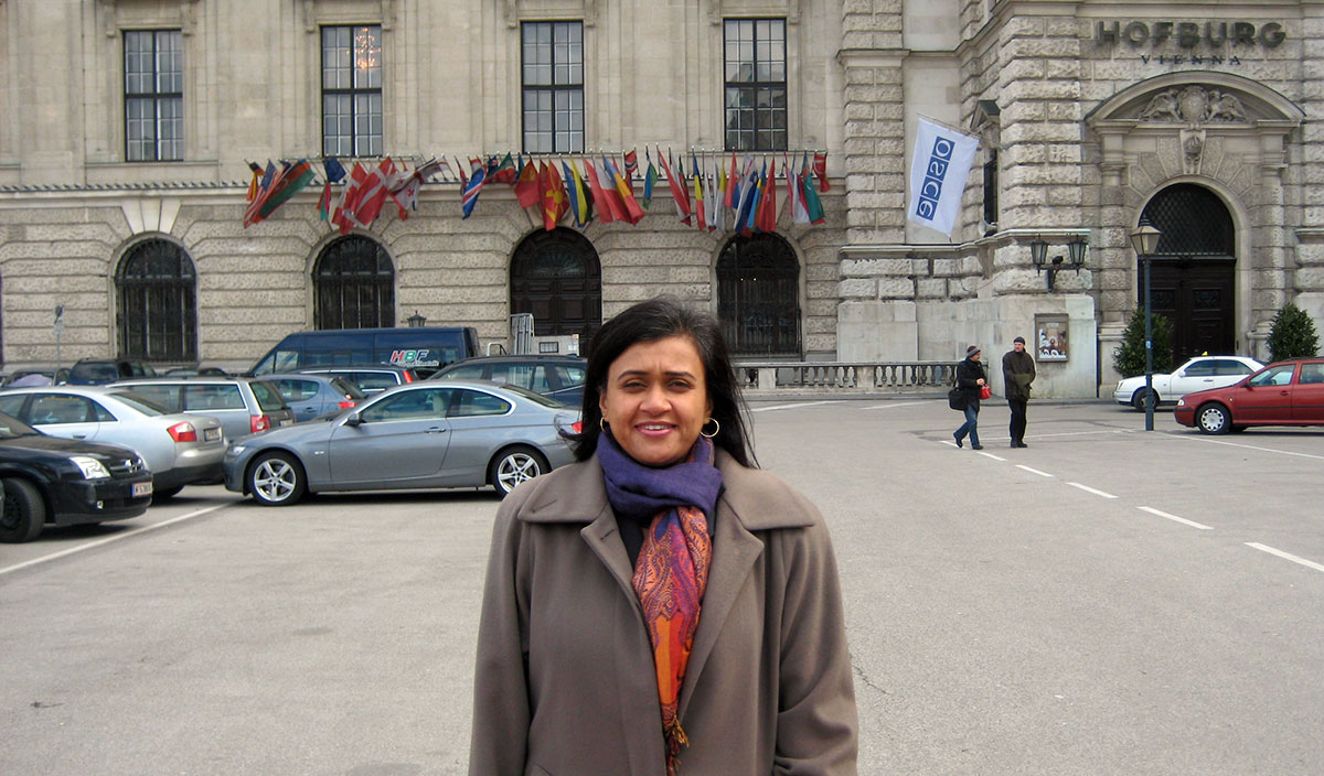 Dr. Joshi at the Organization for Security and Cooperation in Vienna, Austria